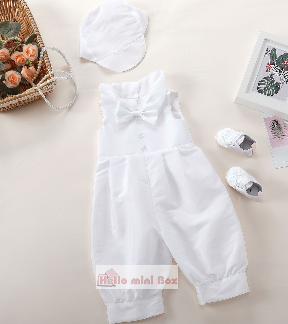 classic jumpsuit three-piece boy's christening suit