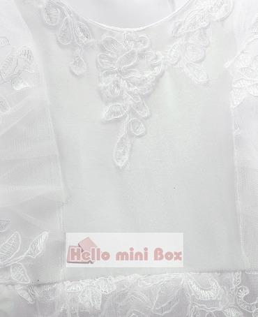 Viacvrstvové rukávy dvojkrídlové dekoratívne pásy plné krajkové krstné šaty
