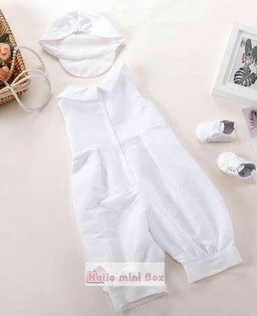 Klassiek jumpsuit driedelig jongensdooppak