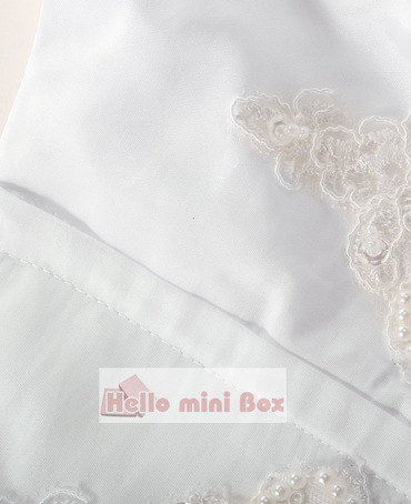Lotus bladkant lille buehals perle dekoration dåbskjole