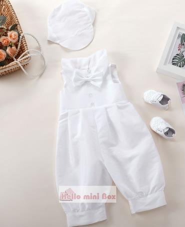 Klasik tulum üç parçalı çocuğun vaftiz elbisesi